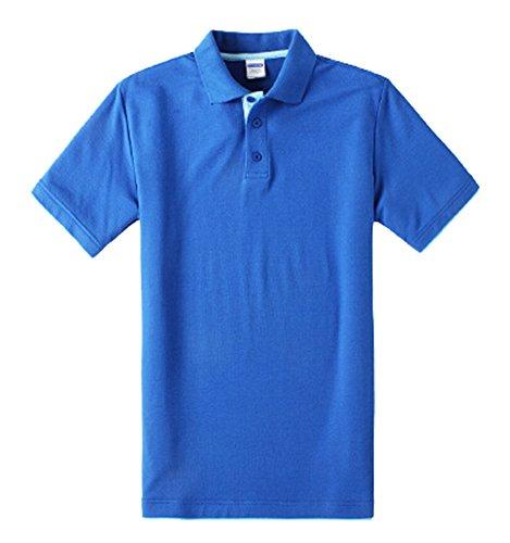 Baymate Tipped Herren Polo-Shirt, Kurzarm Premium Poloshirt Men's Plain Saphirblau