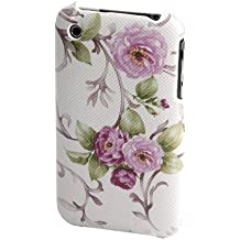 gada - Handyhülle für Apple iPhone 3GS 3G 3 Case Tasche Cover Hülle Schutzhülle Blumen Backcover Rosen Flower rosa mit Leder-Imitatartiger Beschichtung