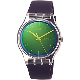 Swatch Reloj Analógico para Mujer de Cuarzo con Correa en Silicona SUOK712