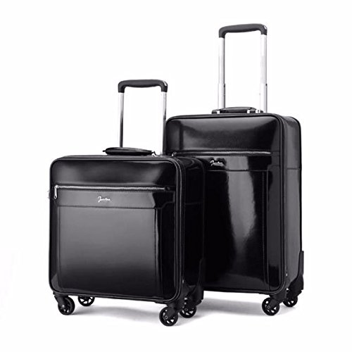 hoom-valise-a-roulettes-cabine-affaires-veritable-cuir-valise-trolley-valiseh37l38w20-cmblack