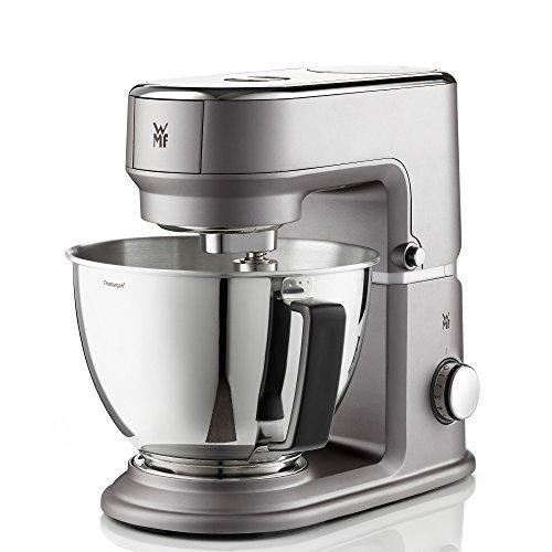 WMF KÜœCHENminis Mini-Küchenmaschine, platzsparend, Mixer für Smoothies, 3l-Schüssel, Softanlauf, Planeten-Rührwerk, 8-stufige Knetmaschine, 3 Rührwerkzeuge, 430W, edelstahl matt, grau