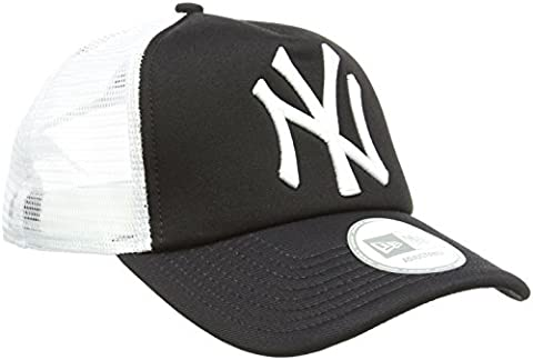 New Era Men's MLB Trucker NY Yankees Baseball Cap, Black,
