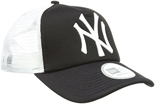 New Era Men's MLB Trucker NY Yankees Baseball Cap, Black, One Size
