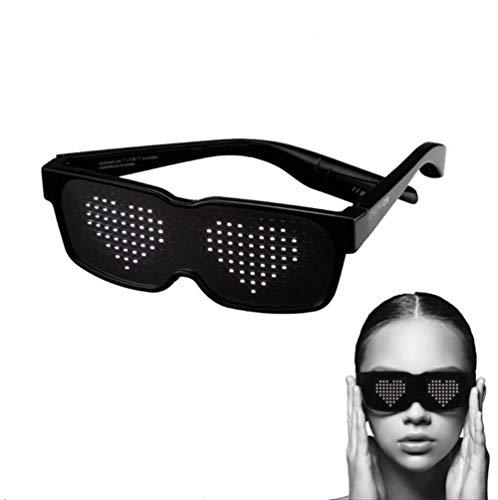 SUNSEATON LED Partybrillen, LED Leuchten Brillen, 8 schnelle Blitzmodi, Wiederaufladbar, Können 10 Stunden Arbeiten und Sind für Nachtclubs, DJ, Konzerte, Halloween, Geburtstagsfeiern geeignet