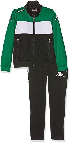 Kappa Trainingsanzug Manarola, Unisex Erwachsene M Schwarz/Grün