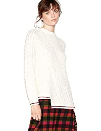 ... Pocket Casual Ribbed Knit Open Front Cardigans Outwear Sweater Knitwear  Coat · £4.66 - £11.99 · Studio by Preen Womens Cream Cable Knit Oversize  Jumper 036feeb04