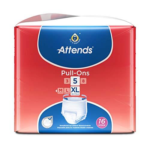 Attends Pull-Ons 5XL, Einmalhose, für mittlere Blasenschwäche/Inkontinenz, Größe XL, 14 St