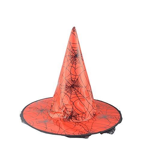 Kostüm Element Zwei - Zottom Hexenhut der Erwachsenen Frauen 1Pcs für Halloween-Kostüm-Zusatz-Spinnennetz