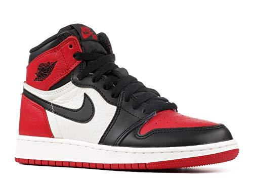 Nike Air Jordan 1 Retro High Og Bg - gym red/black-summit white, Größe:3.5Y