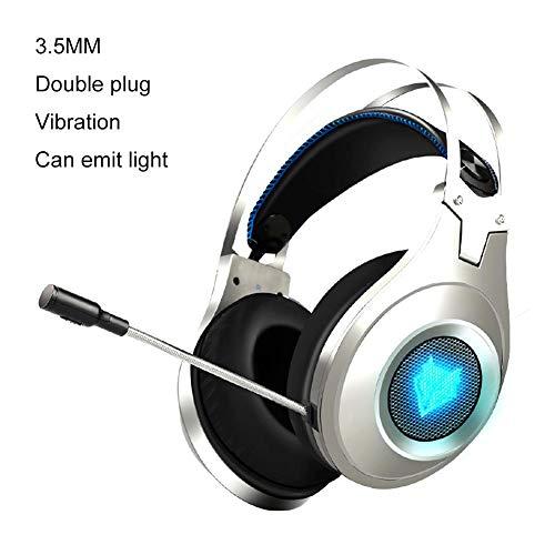 iBelly Gaming Headset, NUBWO N2 Gaming Kopfhörer für PC Mikrofon Stereo Gaming Headset kompatibel mit PC, Xbox One, PS4, Switch, Wii U Kopfhörer C2 -