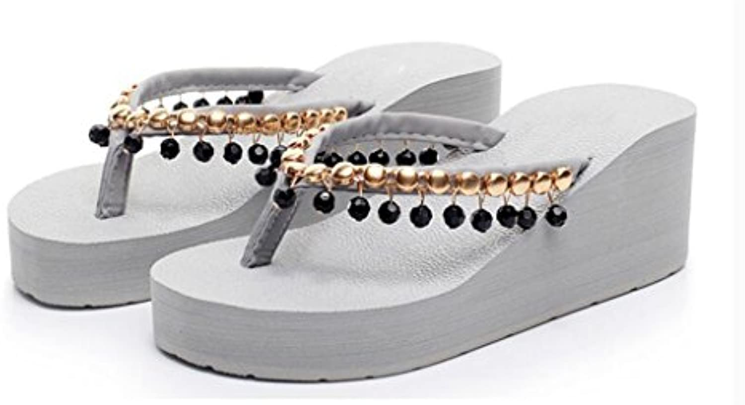 MuMa Sandalias y Chanclas Zapatos de Playa Antideslizantes Plataforma Gruesa Cool Drag Shoes Mujer Verano High...