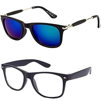 506eb9ebe935c Y S Wayfarer Mercury Combo Unisex Sunglasses (Black) - Pack of 2   Amazon.in  Clothing   Accessories