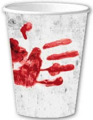 40-tlg. Partyset HALLOWEEN blutige Hand - für 10 Personen - Partygeschirr und Zubehör