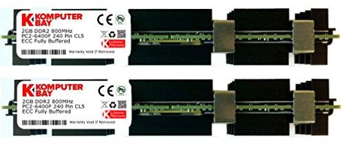 Komputerbay 4GB (2X2GB) DDR2 PC2-6400F 800MHz ECC Fully Buffered 2Rx4 FB-DIMM (240 PIN) w / Heatspreader für Apple MAC Computer