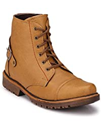 Big Fox Tan and Brown Synthetic Leather Casual Boots For Men. ON SALE NOW!
