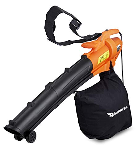 Surreal 2500W Electric Garden Leaf Vacuum, Blower & Mulcher (shredder) 3 in 1