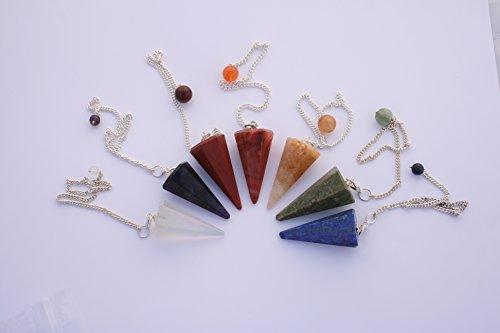 Pendolo per rabdomanzia,cristallo per terapia di guarigione e divinazione,7 chakra