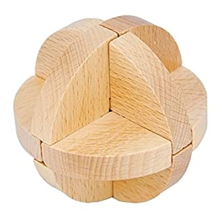 JIAAE Puzzle Luban Ball Building Blocks Wooden Disassembly Children's Toy