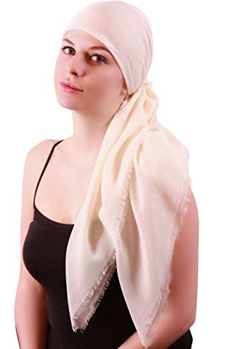Foulards Carrés Légers doux pour les femmes Crème