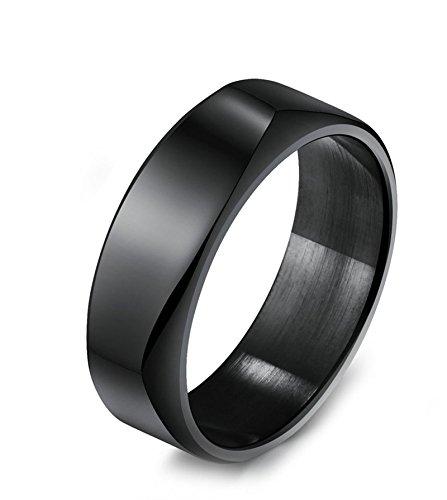 ge Edelstahl Glatt Schwarz Ringe Gr.60 (19.1) (1 4-ring-diamant-herz)