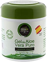 Pure Aloe Vera 100% natural moisturizing gel 500 ml for skin irritated by shaving and shaving/Sunburn and insect bites. Facial and Body Use