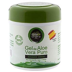 Gel Aloe vera 100% de Canarias crema hidratante natural 500 ml para la piel irritada por el depilado y afeitado…