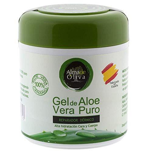 Gel idratante 100% naturale di aloe vera 500 ml per pelli irritate da rasatura e rasatura/scottature solari e punture di insetti. uso del viso e del corpo