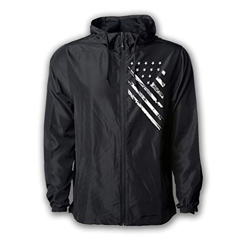 da1222c396 Tactical Pro Supply USA Windbreaker Jacke für Damen und Herren American  Flag Patriotische Hoodie Zip Up