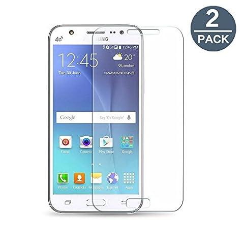 ZIMA® 2x Film vitre de protection écran pour Samsung Galaxy J5 SM-J500F (Version 2015) en verre trempé haute transparence et ultra résistant (incassable, inrayable