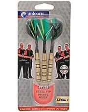 Unicorn 2400025 Gt- 125 Steel Dart, Pack of 3 (Green/Silver)
