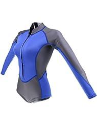 MagiDeal Néoprène Combinaison De Plongée Maillot De Bain Costume Sport Nautique Plongeur Pour Femme
