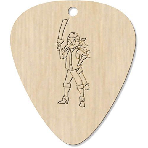 7 x 'Weiblicher Pirat' Plektrum / Picks (GP00001309)