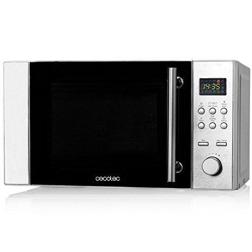 Microondas digital de acero con grill, input 1200W output 700W, grill de...
