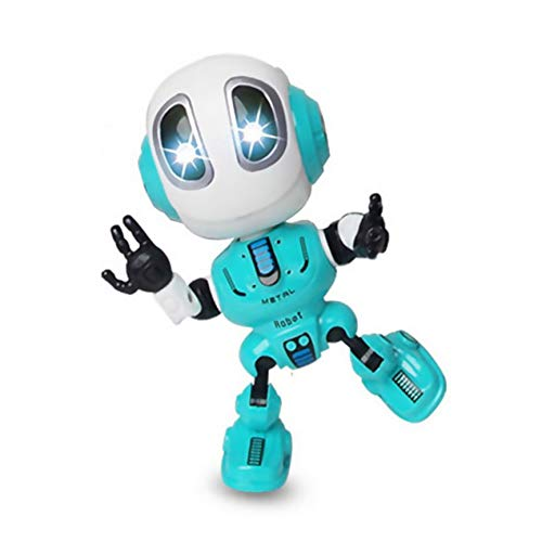 Peanutato Voice Changer Talking Robots for Kids Mini Metal Robot Toy con Corpo Stilizzato educativo Intelligente Gambo Giocattoli di apprendimento