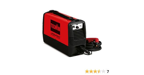 230V Inverter-Technik TELWIN Technology Plasma 54 Plasmaschneider mit integriertem Kompressor Plasma-Schlauchpaket und Masseanschlussgarnitur Set inkl