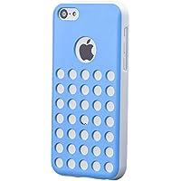 iCues Apple iPhone 5C    Löcher Case Blau   [Display Schutzfolie Inklusive]  Schutzhülle Hülle Cover Schutz