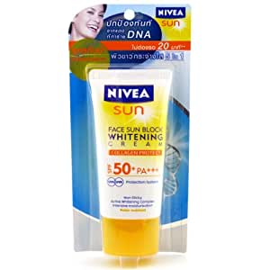Nivea Face Sun Block Whitening Cream SPF 50 Pa ++ Made in Thailand