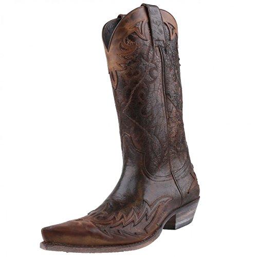Sendra Cowboystiefel 9669 Braun Braun/Antik