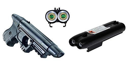 KOSxBO® Set Pfefferspraypistole JPX inkl. Pfefferspray Magazin 2X 10ml Ladung Jet Protector + 2X KOS24 Zielscheiben Protector Set
