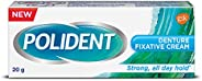 Polident Denture Fixative Cream Denture Adhesive For All Day Hold of Dentures, 20 g