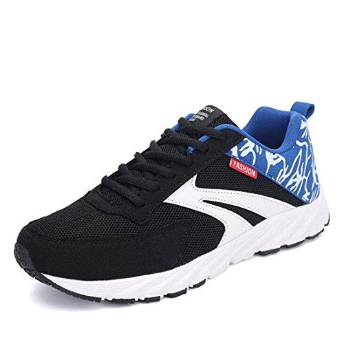 Sneakers traspiranti primaverili da uomo con tendenza alle scarpe casual in mesh black