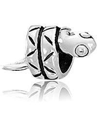 MATERIA 925 Silber Antik Beads Anhänger Noppen für European Beads Armband #863