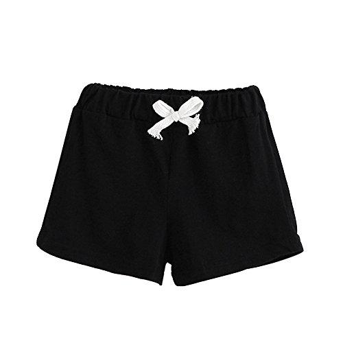 Honestyi BabyBekleidung Kinder Sommer Baumwolle Shorts Sommer Kinder Baumwolle Shorts Jungen und Mädchen Kleidung Baby (100,Schwarz)