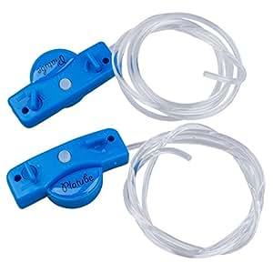 SODIAL(TM) Lacet de chaussure LED clignotant Couleur bleue 1 paire + 2 extras piles CR2032