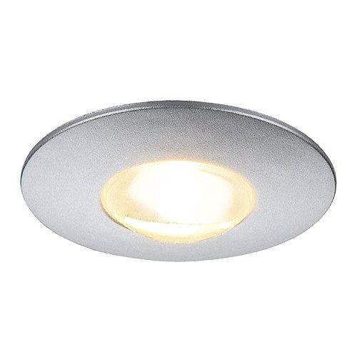 Silber-metallic Led (SLV DekLED Einbauleuchte, Rund, 1W LED, 3000 K, Silber Metallic / Warmweiß 112242)
