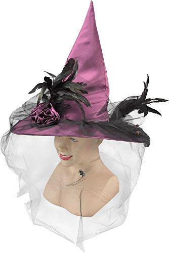 Fancy Dress Party Clubwear Frauen Kegelförmige Wicked Hexe Hat UK, Violett (Kegel Halloween Kostüme)
