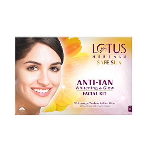 Lotus Safe Sun Anti Tan Whitening and Glow 4 in 1 Facial Kit