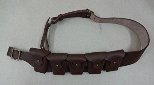 1903 Muster Leder fünf Taschen Bandolier für Jawa -