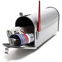 Buzón US Mail diseño americano Plateado decorativo Correo Postal Soporte ...