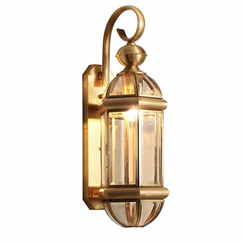 CXSM Innenkupfer-Wand-Licht-im Freien wasserdichte Glaslampen-amerikanisches Land-Retro- Hof-Kunst-Beleuchtung